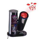 TS-E03 LCD Digital Projection Weather Date Temperature Humidity Meter 360° Rotatable LED Alarm Clock Digital Thermometer
