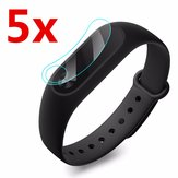 5 x Anti-Scratch Clear Screen Protector Film Shield Voor Xiaomi Miband 2 Tracker