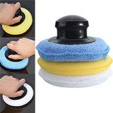 Microfiber Foam Sponge Polish Wax Applicator Pad Set with Handle