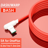 Bakeey 5A USB to Type-C Warp Dash Quick Charging Data Cable 90°ElbowCord for OnePlus 8 OnePlus 8 Pro