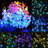 Solar Blossom Flower Fairy String Light 23FT 50LED Home Garden Boda Decoración
