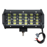 7Inch 72W Four Row 24LED Work Lights Bar Spot Combo Lamps Bar for Offroad 4WD SUV Truck