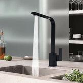 Современный черный смеситель для кухни Смеситель для раковины Однорычажный смеситель для латуни Моно