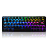 Geek GK64 64 Tombol Gateron Beralih Hot Swappable CIY Beralih RGB Backlit Keyboard Gaming Mekanik
