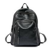 Women Leather Shoulder Bag School Handbag Backpack Rucksack Messenger
