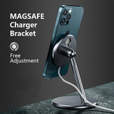 Bakeey Magsafe Phone Charger Holder Aluminium Alloy Bracket 360°Rotation For iPhone 12 Series Magnetic Wireless Fast Charging Stand