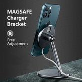 Bakeey Magsafe-houder voor telefoonoplader Beugel van aluminiumlegering 360 ° rotatie voor iPhone 12-serie magnetische draadloze snellaadstandaard