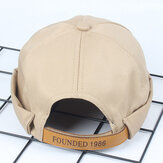 Mens Solid Cotton Leisure Newsboy Caps
