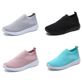 Women Casual Shoes Plus Size Breathable Mesh Slip-on Vulcanize Shoes Ladies Sneakers