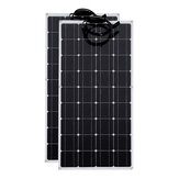 2 Pcs 100W 18V Solar Panel RV Car Boat Battery Charger Power Portable Outdoor Camping Travel Home