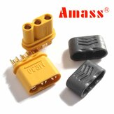 Plugue Amass MR30 Conector com bainha fêmea e macho 1 par