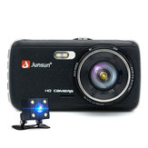 Junsun 4 Inch Penuh HD 1296 P ADAS Dual Lens IPS Perekam Video Night Vision Mobil DVR Kamera