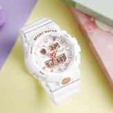 SANDA 3000 Fresh Color Fashion Alarm Часы Световой Дисплей Ударопрочный Пара Двойной Дисплей Цифровые Часы