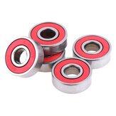 10Pcs vermelho 608RS rolamentos de esferas skate C3 alta velocidade para motor elétrico
