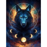 DIY Diamond Painting Animal Wolf 5D Full Diamond Art Craft Kit Handmade Wall Decorations Gifts for Kids Adult
