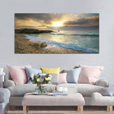Spiaggia Stampa su tela Ocean Wave Sunset Sea Senza cornice Dipinti Art Wall Home Decor