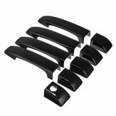 9Pcs Gloss Black Door Handle Cover Trim For Land Rover Range Vogue L322 2002-2012