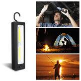 Lavoro COB lampada AA Batteria Torcia elettrica Attrazione magnetica campeggio Luce con Gancio