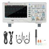 UNI-T UTD2102e PLUS Digital Осциллограф с 7-дюймовым осциллографом LCD Дисплей с полосой пропускания 100 МГц, 2 канала 500 мс / с Real Частота дискретизации вре