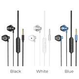 HOCO M75 Headphone Magnético 3.5mm AUX Jack Fone de Ouvido Estéreo Música Esporte Hifi Headset com Microfone