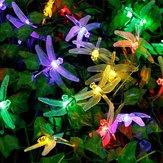 Honana DX-334 20 LED Dragonfly luzes coloridas da corda Luz solar conduzida da luz Home Home do jardim