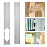 2pcs Kit de diapositivas de ventana ajustable Placa Air Conditioner Wind Shield para aire acondicionado portátil