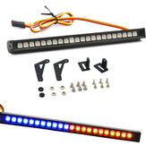 22LED Colorful RC Knipperende LED-lichtbalk Daklamp Kit voor 1/10 TRX4 SCX10 90046 RC Crawler Truck