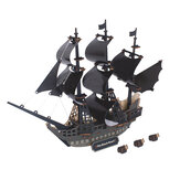 3D Woodcraft Assembly Kit Black Pearl Pirate Ship pour enfants jouets