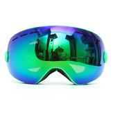 Snowboard Skibrille zwei Schichten Objektiv Motorrad UV-Schutz Anti-Fog-Grün