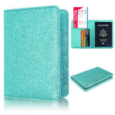 RFID Anti-Scanning Bling Leather Card Bag Passport Case Travel Camping Wallet Men Coin Purse Card Holder