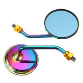 Pair Aluminum Motorcycle Rearview Side Mirrors With M10 Screw Blue Anti-glare