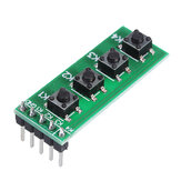10pcs TB371 4 Key MCU Keyboard Button Board Compatible UNO MEGA2560 Pro Mini Nano Due for Raspberry Pi Teensy++ Geekcreit for Arduino - products that work with official for Arduino boards