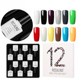 ROSALIND 12pcs 10ML Soak Off Salon UV Nail Gel Polish Nail A