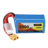 ZOP Power 14.8V 2000mAh 15/30C 4S LR Li-ion Battery XT60 Plug for FPV RC Racing Drone