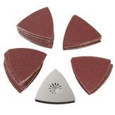 100pcs 80mm 60-240 papel de lija de arena con almohadilla de lijado para Bosch Fein oscilante Multitool