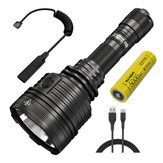 NITECORE P30i XHP35 HI 2000lm Remote Switch Quite Operate Tactical Flashlight USB Rechargeable 21700 LED Torch Hunting Camping Searchlight
