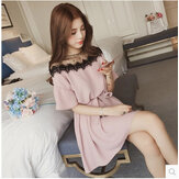 Large Size Women's New Fat Mm Loaded Thin Tibetan Meat Cover Belly Fat Sister Short-sleeved Dress