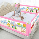 5 Adjustable Height Level Baby Bed Fence Safety Gate Child Barrier For Beds Crib Rail Security Playpen