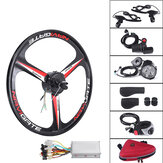 26'' 36V 300W Electric Bicycle Rear Wheel Hub Motor E-Bike Cycling Conversion Kit 25KM/H