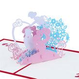 Creatieve 3D Moederdag wenskaarten Papier handgemaakte verjaardag Thanksgiving kaart cadeaus voor moeder moeder