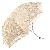 女性日雨傘コンパクトレース3つ折り抗UV防水日焼け止めサンシェード傘