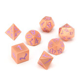 7Pcs Antique Metal Polyhedral Dice Role Playing Game Dices Heavy Duty With Bag