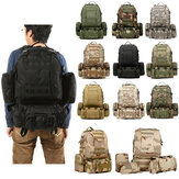 50L 600D Military Nylon Outdoor Sports Mochila mochila Camping Hiking Camouflage Shoulder Bolsa Pack
