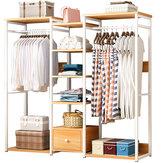 منظم تخزين خزانة خشب MSFE E19s ، رف ملابس ، حامل أرفف جاف