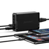 Tronsmart U5P 5-Port USB Charger Quick USB Charger 60W USB-C Power Delivery Desktop Charger for Samsung Galaxy S9 Plus