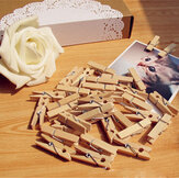 100pcs 35mm naturales clips de papel de fotos de madera
