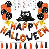 1 Conjunto Feliz Dia Das Bruxas Decorações Bat Balão Festa Pendurado Carta Balões Prop