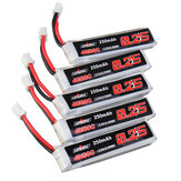 5Pcs URUAV 3.8V 250mAh 40C/80C 1S Lipo Battery PH2.0 for Happymodel Mobula6 HD Eachine US65 UK65 URUAV UR65 Mobula7