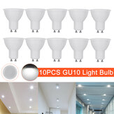 10 piezas AC220V GU10 luz LED Foco de foco Lámpara Downlight Home Office Hotel