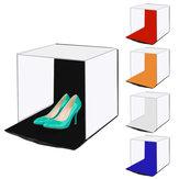 PULUZ PU5140 صور Softbox 40CM المحمولة للطي استوديو رماية مجموعات مربع خيمة مع 5 اللون خلفية